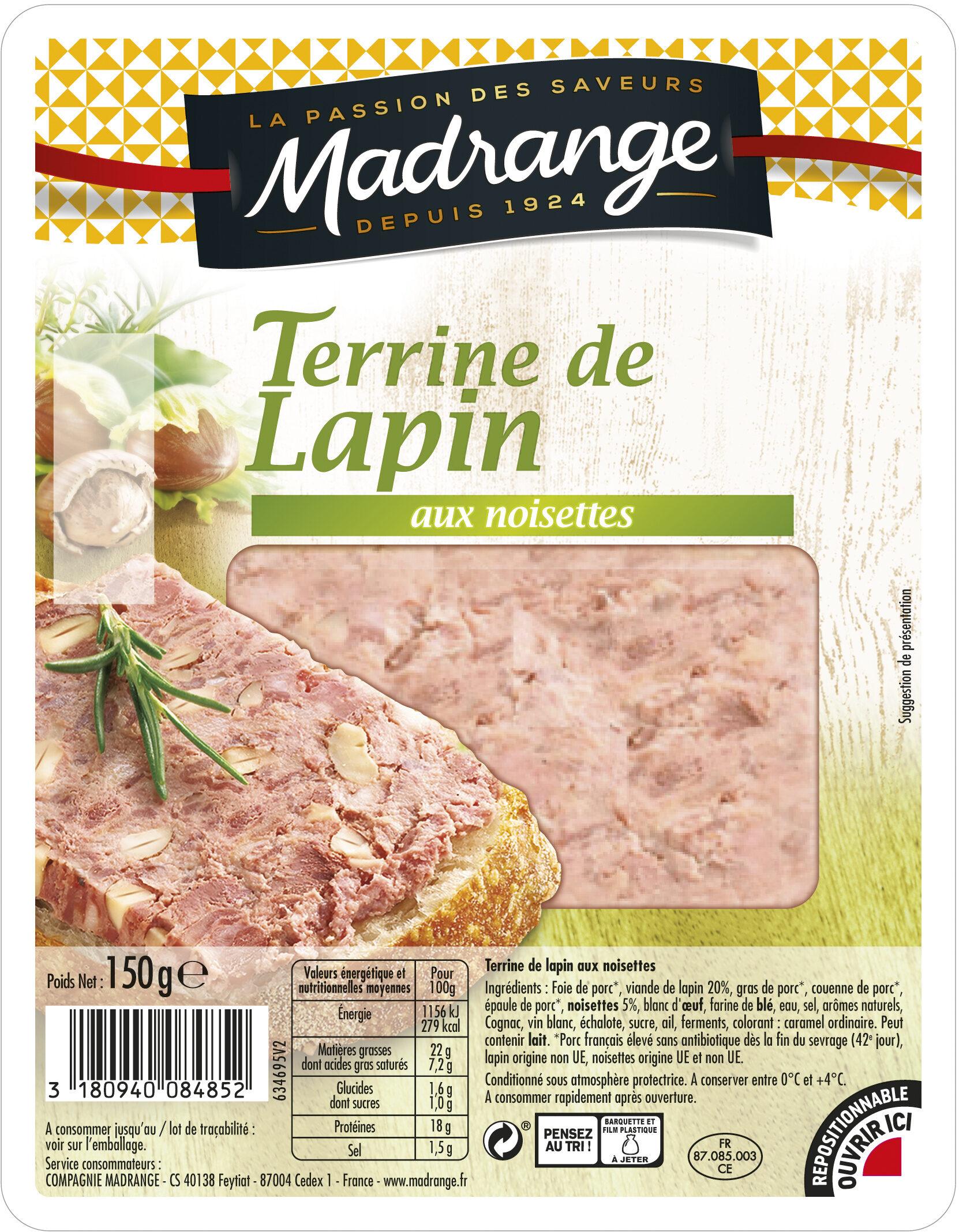 Terrine de lapin aux noisettes - Produit - fr