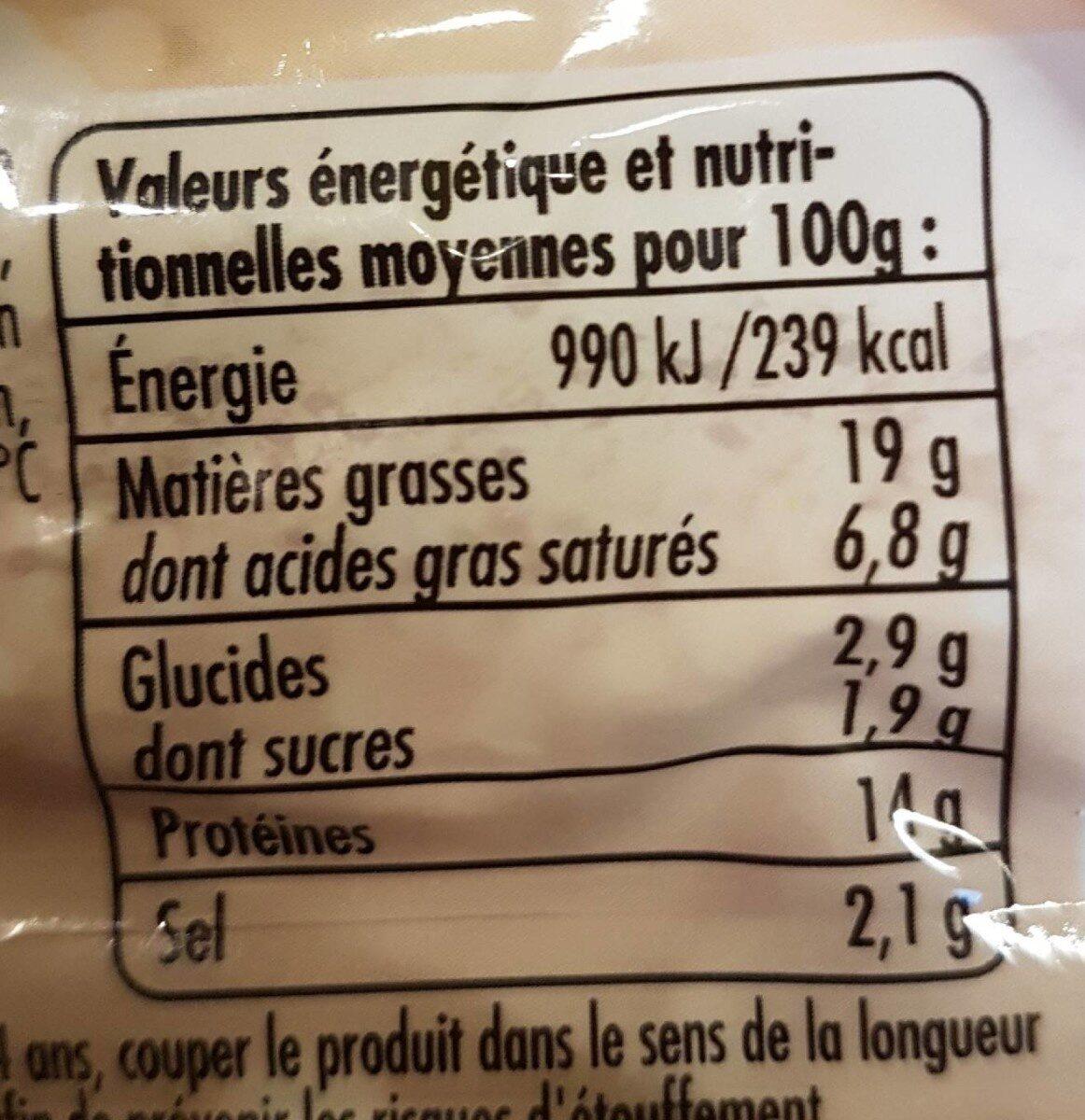 40 cocktail créoles - Informations nutritionnelles - fr