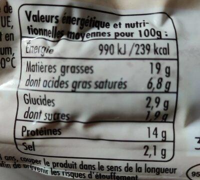 40 cocktail créoles - Informations nutritionnelles