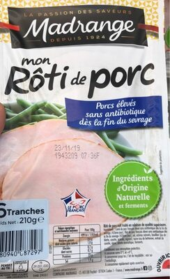 Mon roti de porc - Product