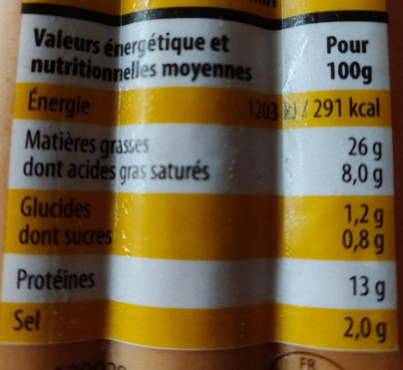 Knacks 100% Pur Porc - Nutrition facts
