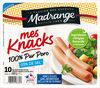 Mes Knacks 100% pur porc -25% de sel* x10 - Product