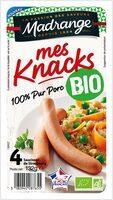 Mes Knacks 100% pur porc BIO - Product