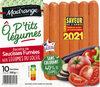 Recette de saucisses fumées aux légumes du soleil Ô p'tits Légumes - Product
