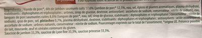 Assiette Alsacienne - Ingrédients - fr