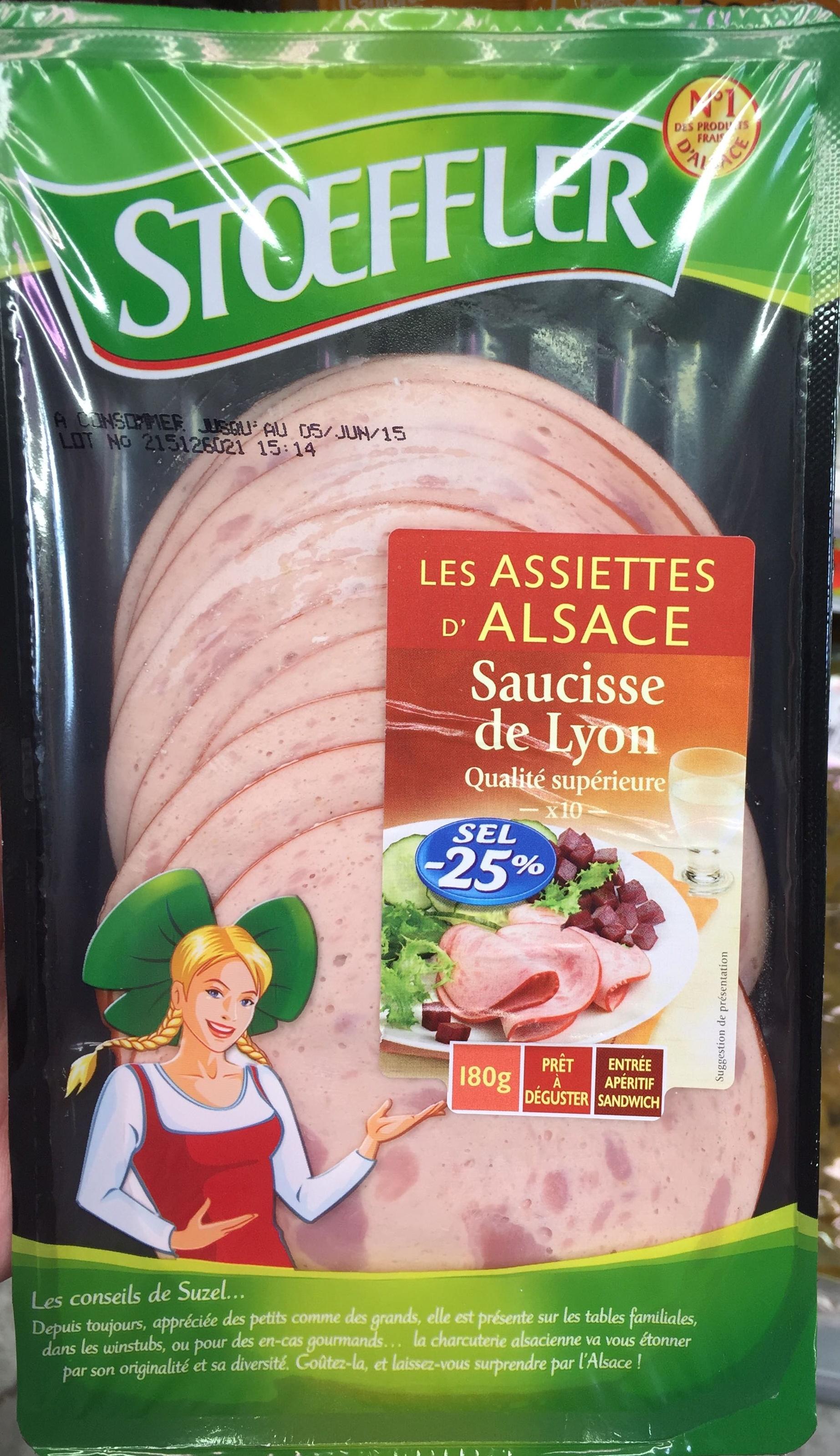 Les Assiettes d'Alsace Saucisse de Lyon (Sel -25%) - Product