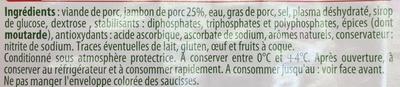 Les Assiettes d'Alsace Saucisse de Lyon (Sel -25%) - Ingrédients