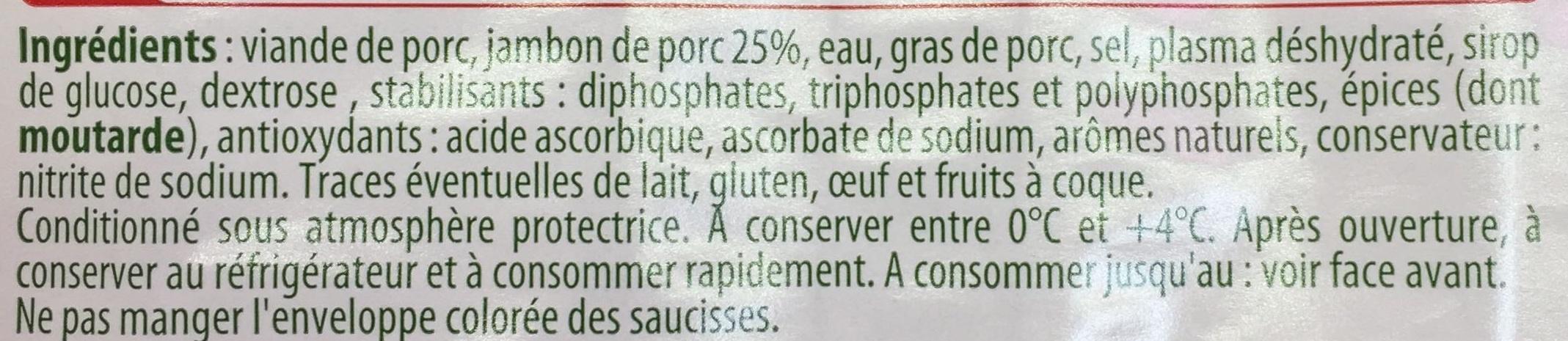 Les Assiettes d'Alsace Saucisse de Lyon (Sel -25%) - Ingredients