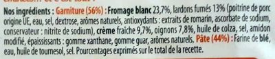 Flammekueche Lardons - Oignons - Ingrediënten
