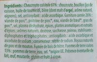 Choucroute garnie Stoeffler - Ingrédients - fr