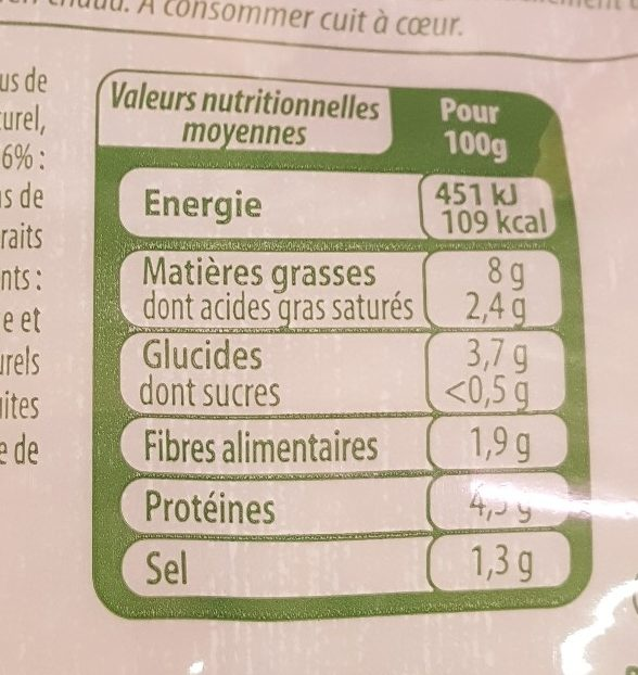 Choucroute garnie Stoeffler - Informations nutritionnelles - fr