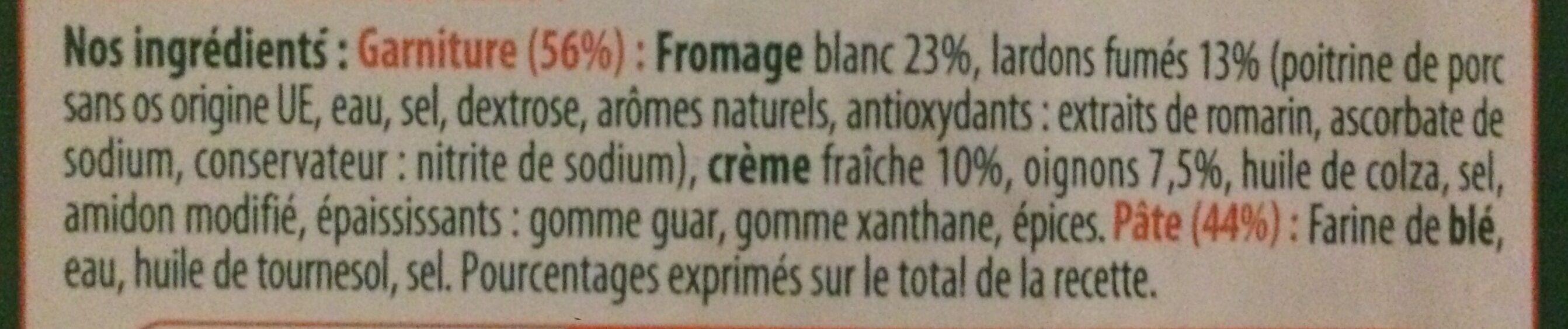 Stoeffler Flammekueche lardons oignons les 3 Flammekueches de 350 g - Ingrédients - fr