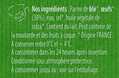 Spaetzle à poêler - Ingrediënten - fr