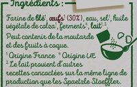 Spaetzle à poêler - Ingrédients - fr