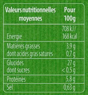 Spaetzle à poêler - Voedingswaarden - fr