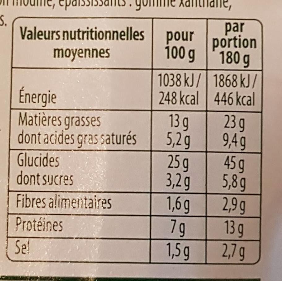 Les idées Flamm L'HIVERNALE - Informations nutritionnelles - fr
