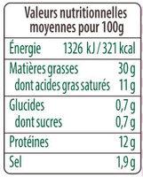 La viennoise - Valori nutrizionali - fr