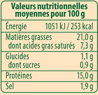 Knacks d'Alsace Bio Stoeffler - Informations nutritionnelles - fr