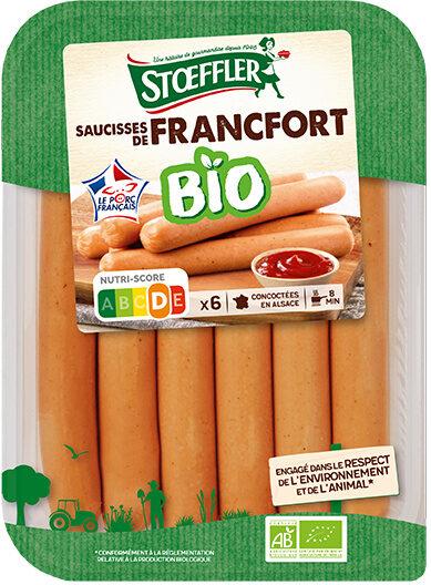 Saucisses de Francfort Bio Stoeffler - Produit - fr