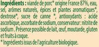 Saucisses de Francfort Bio Stoeffler - Ingrédients - fr