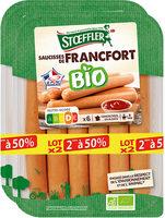 Saucisses de Francfort Bio, lot de 2, 2ème à 50% Stoeffler - Produit - fr