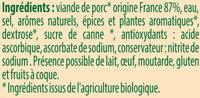 Saucisses de Francfort Bio, lot de 2, 2ème à 50% Stoeffler - Ingrédients - fr