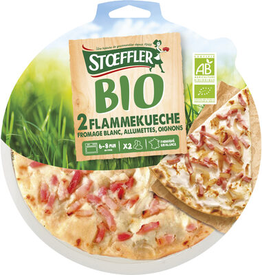 Flammekueche bio X2 fromage blanc allumettes oignons - Produit - fr