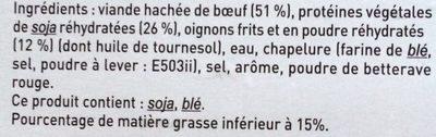Le spécial à l'oignon - Ingredients