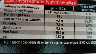 L'extra moelleux - Informations nutritionnelles - fr