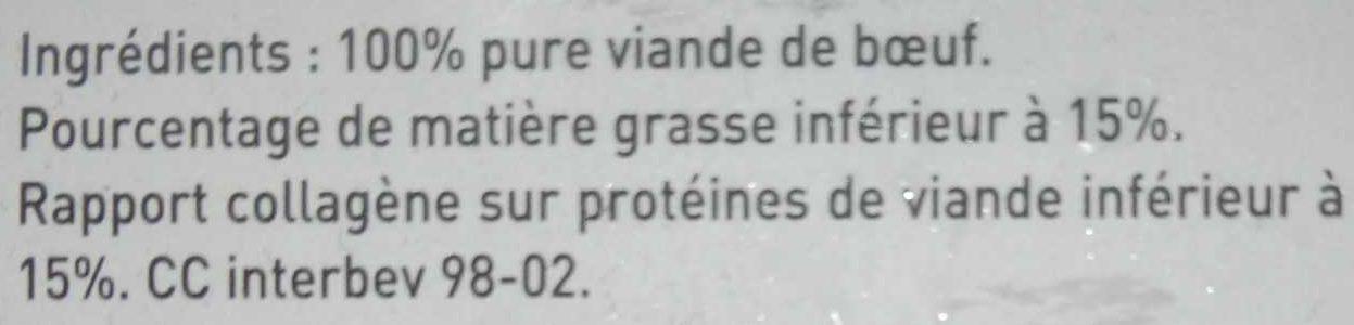 Steaks - Ingredients - fr