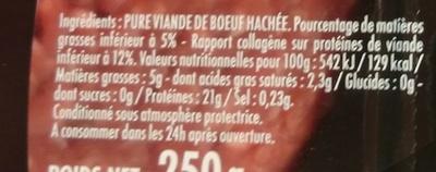 Le Tradition Façon Bouchère 5% - Ingrédients