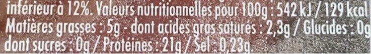 Le Tradition Façon Bouchère 5% - Informations nutritionnelles - fr
