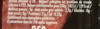 Le Tradition Façon Bouchère - Informations nutritionnelles