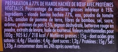 Charal haché bolognaise - Ingredients