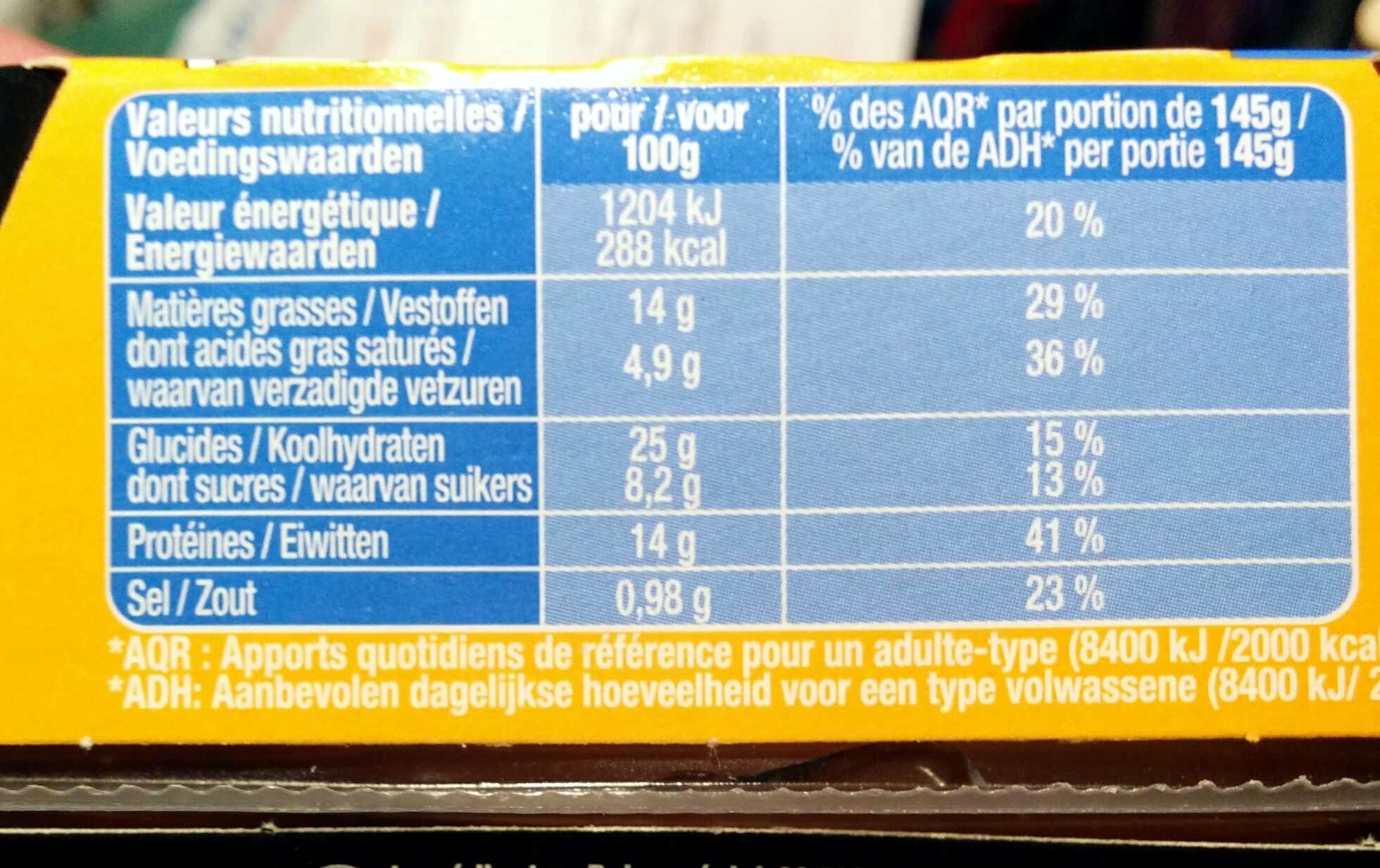 Cheese Burger - Nutrition facts