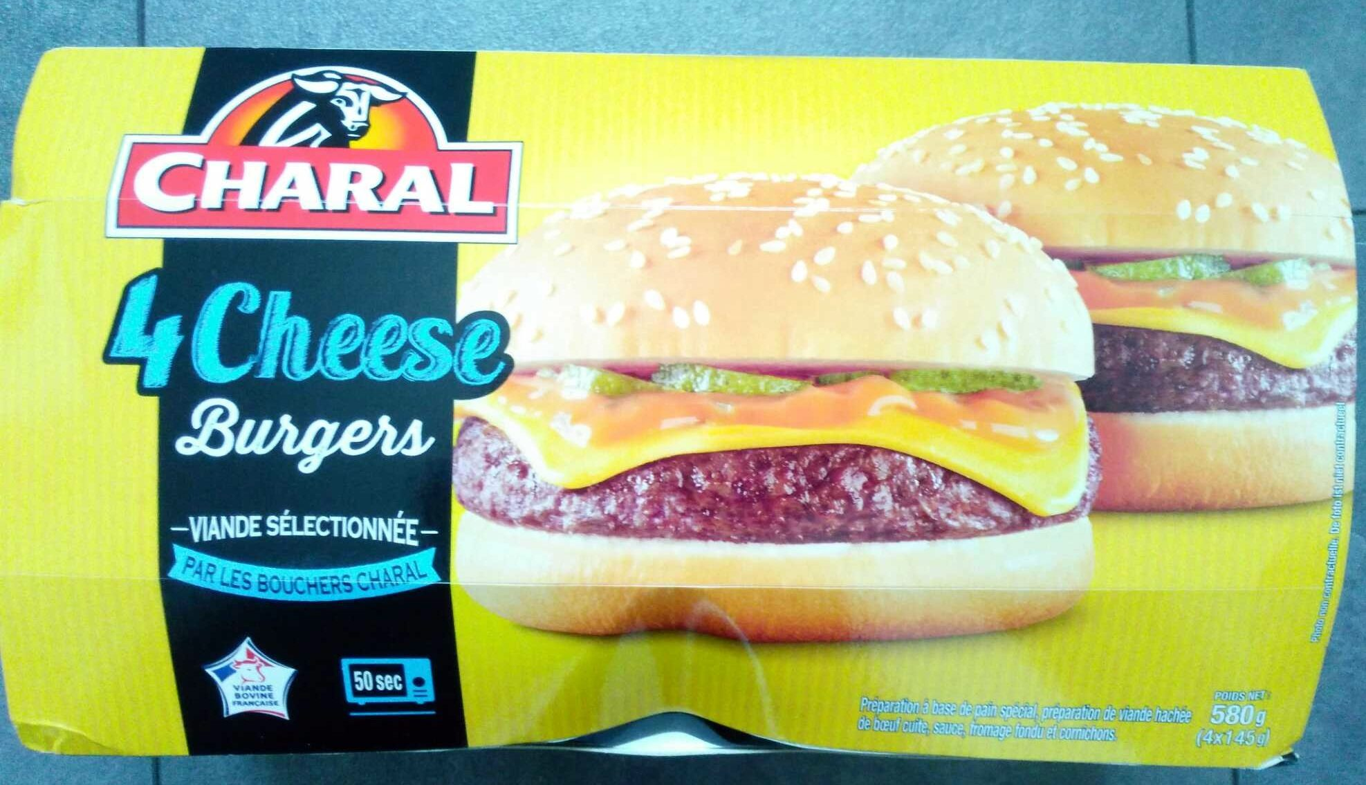4 cheese burgers - Produit - fr