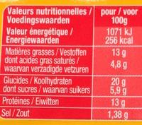 Maxi Cheese Burger - Informazioni nutrizionali - fr