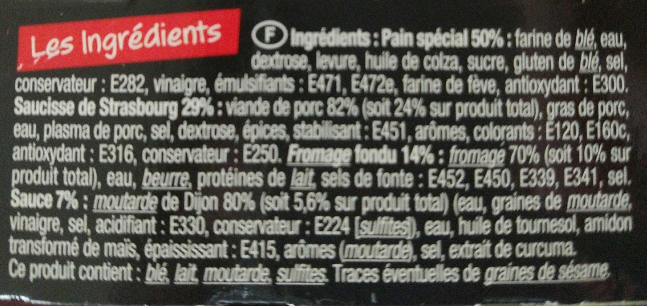 Charal Snack Hot Dog Moutarde 120GR (Ov 6) - Ingredients