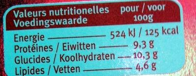 Mijoté au boeuf & pruneaux sauce à l'Armagnac - Nutrition facts
