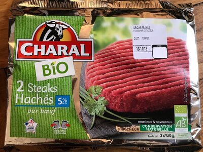 2 Steaks Hachés 5% M.G Bio - Product