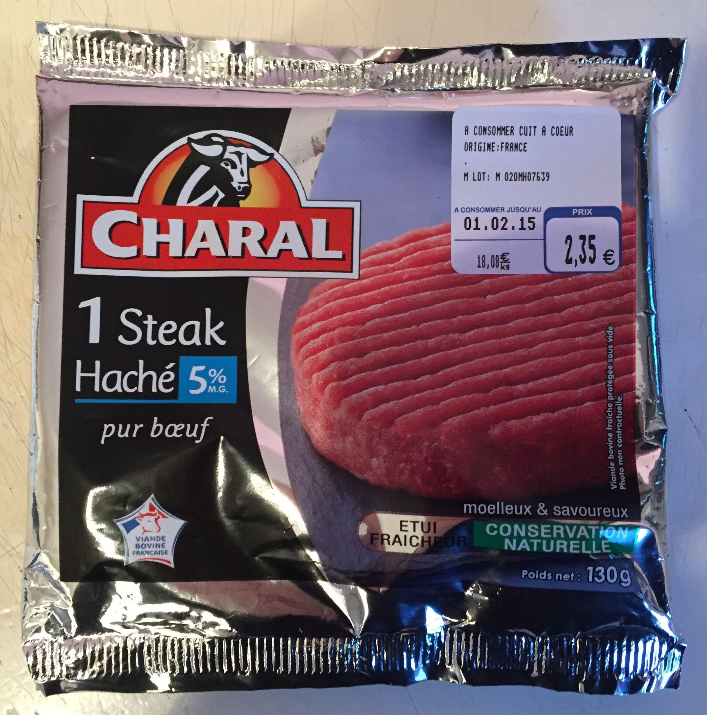 1 steak haché pur boeuf 5% M.G - Product