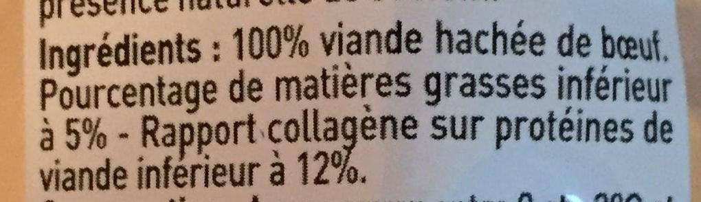 1 steak haché pur boeuf 5% M.G - Ingredients