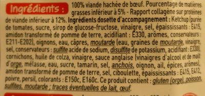 2 tartares 5% de M.G. & leur sauce - Ingrédients - fr