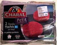 Petit appétit 2 steaks hachés 5% pur boeuf - Produit - fr