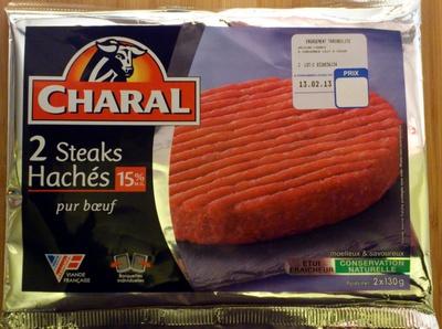 2 Steak Hachés 15% MG - Produit - fr