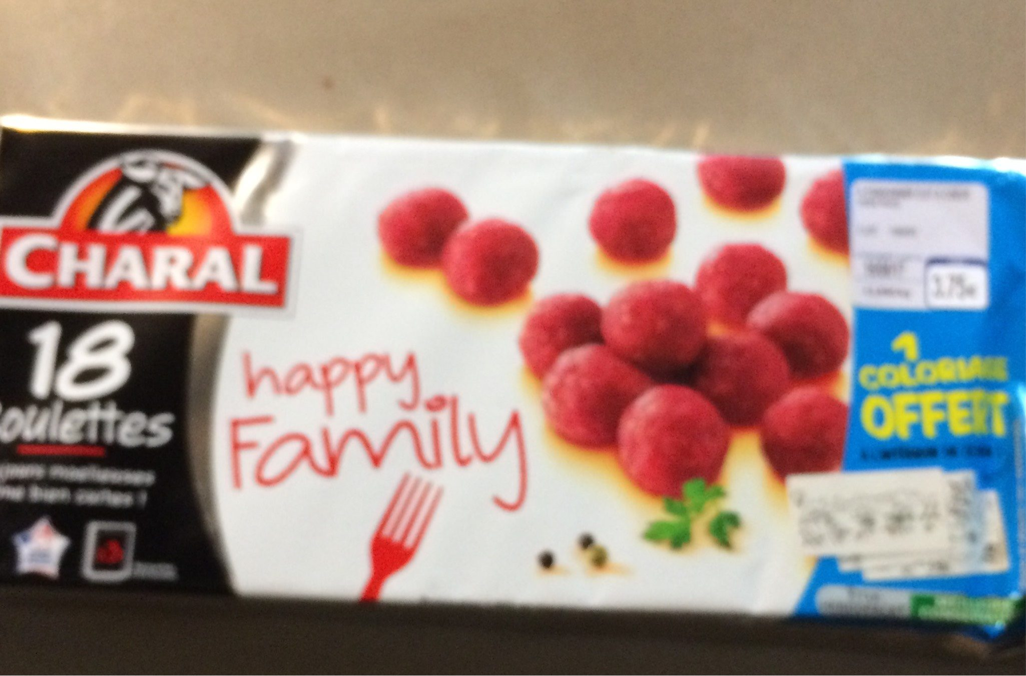 Boulettes Charal Happy Family - Nutrition facts