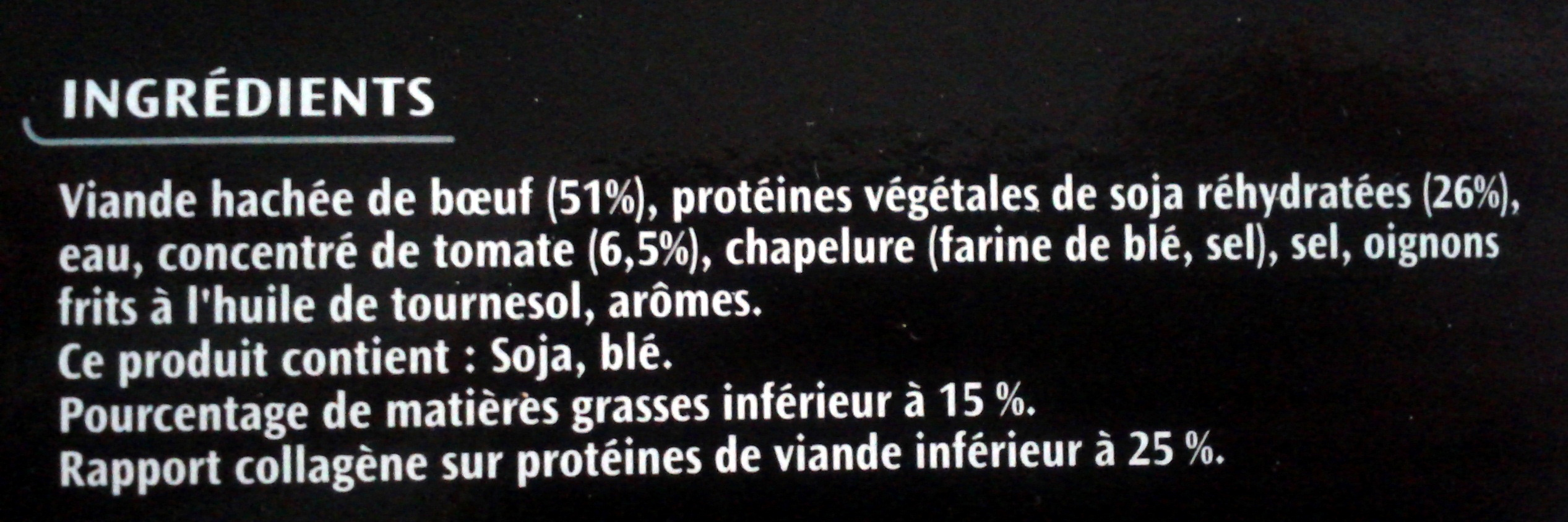 Le spécial à la tomate - Ingrédients - fr
