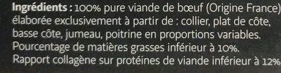 L'authentique Pur Boeuf - Ingredients - fr