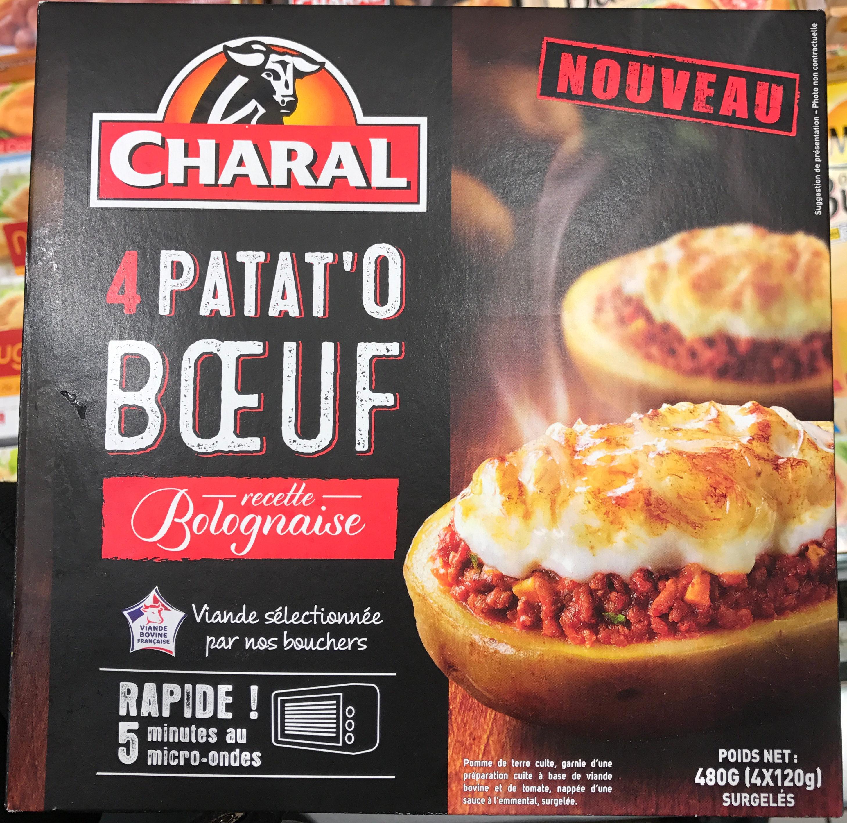 4 Patat'O Boeuf recette Bolognaise - Produit