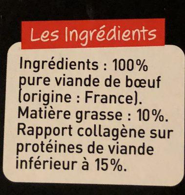 Bifteck haché Dégustation - Ingredients